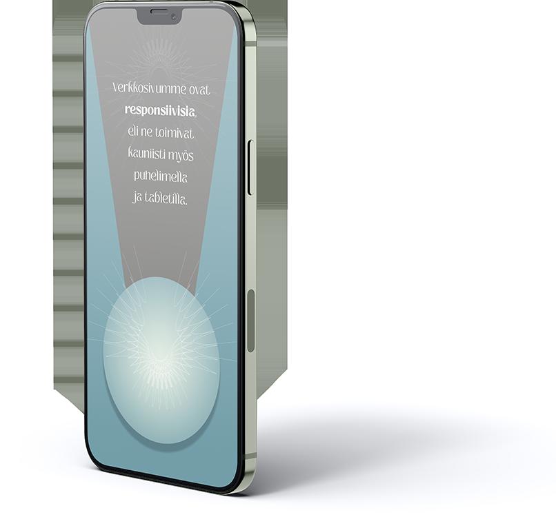 Mielikuvitustoimiston verkkosivut ovat aina responsiivisa, eli ne toimivat kauniisti pöytäkoneella, tabletilla ja puhelimella